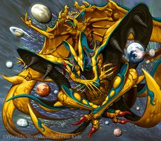 Ittoku's Oekaki Fantasy Beasts, Fantasy Art, Character Art, Character Design, Power Rangers Ninja Steel, Cool Monsters, Creature Concept, Monster Art, Dnd Characters