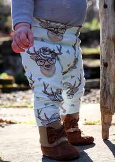 Baby Leggings Toddler Leggings Hipster Deer by Saravadesigns