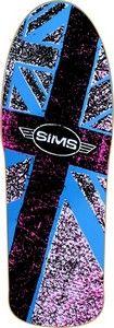 Sims Skateboards Decks Sims Wheels Sims Flagship Ii Deck 10x29.75 Blue FLAGSHIP II #skateboarding