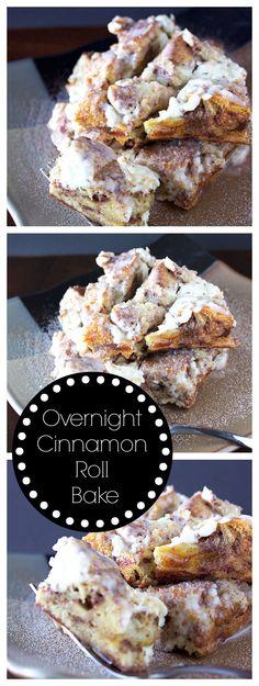 Easy Overnight Cinnamon Roll Bake