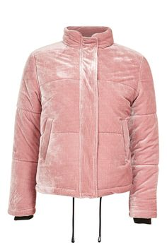 43a0af7b Topshop Velvet Puffer Jacket Puffer Vest, Puffer Jackets, Outerwear Jackets,  Winter Jackets,