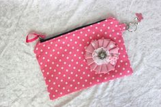 Upcycled Pink Spotty Bag £12.00