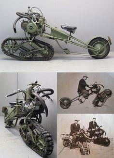Mercier 1937 Moto Chenille 350cc 1 cyl ohv