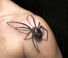 3D Colorful Spider Tattoo photo - 4