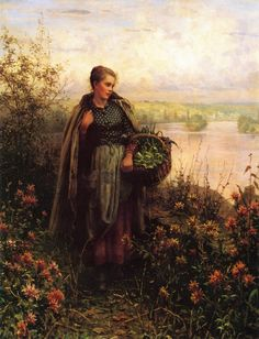 The Athenaeum - Morning Chill Daniel Ridgway Knight - Date unknown Private collection Painting - oil on canvas Height: 86.36 cm (34 in.), Width: 66.04 cm (26 in.)