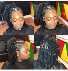 Short Dreadlocks Styles, Short Locs Hairstyles, Dreadlock Styles, Black Girls Hairstyles, Cute Hairstyles, Hair Locks, Faux Locs, About Hair, Twists