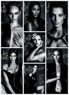 Interview September Model Issue Covers. The Super Duper Models. What's Your Fav.