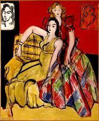 """Résultat de recherche d'images pour """"deux jeunes filles robe jaune robe ecossaise  Henri Matisse"""