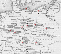 Pow Camps Map Shows where Heydekrug East Prussia was.