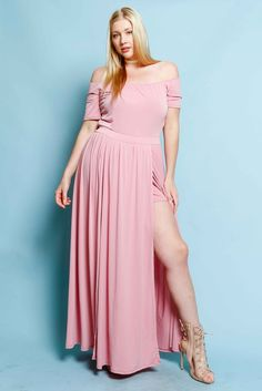Plus Size Maxi Dress with Romper Lining