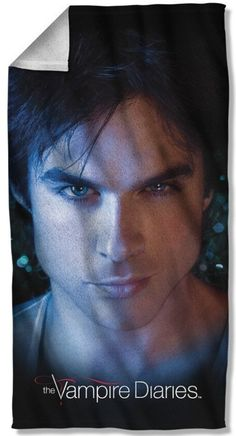 Pillow Case Damon Close Up The Vampire Diaries FrontBack