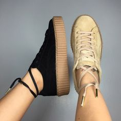 ISO Rihanna Puma Creepers! Looking for size 6 in women's, preferable in oatmeal white or black. Reasonable prices! Please let me know if you find it❤️ Puma Shoes Sneakers