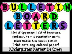 Bulletin Board Header Letters And Numbers 5 Circles