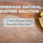Natural Homemade Dusting Solutions and Wipes