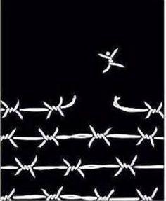 breaking free / barbed wire / digital illustration / black and white Political Art, Break Free, Grafik Design, Art Journals, Digital Illustration, Artsy, Words, Artwork, Prints