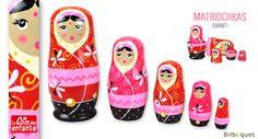 Poupées Russes Shanti - Matriochkas en bois rose Le Coin Des Enfants