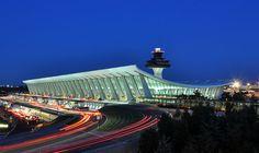 Main Terminal at Dulles Airport, by Eero Saarinen