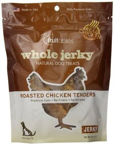 FRUITABLES Fruitables Whole Roasted Chicken Tenders Dog Treat 5-Ounce pouch