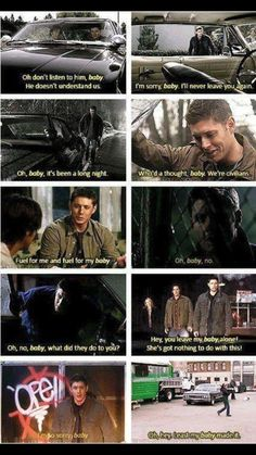 Dean and his true love impala... Oh sorry... BABY •v•