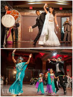 Indian bridal party. Image courtesy of Kumari Photo + Cinema. Discover more Indian Bridal Party inspiration at www.shaadibelles.com