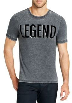 William Rast™ Men's Registered Legend Short Sleeve Tee - Black Registered Leg - 2Xl