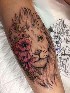 Tattoo Zabityy Kot - tattoo's photo In the style Graphics, Dotwork, Female, Lions, Flowe Leo Tattoos, Dope Tattoos, Dream Tattoos, Sleeve Tattoos For Women, Pretty Tattoos, Beautiful Tattoos, Body Art Tattoos, Tribal Tattoos, Hand Tattoos