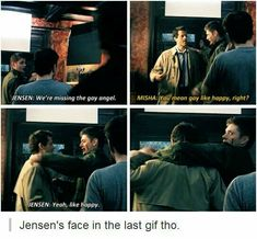 Jensen face at the last picture