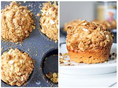 Sky High Apple Pie Muffins and 4 tips how to bake up TALL muffins everytime!