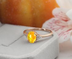 Opal Promise Ring, Amber Gemstone, Engraved Rings, Wedding Anniversary Gifts, Metal Bands, Oval Shape, Color Yellow, Unique Weddings, Wedding Bands