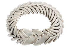 One Kings Lane - Fashionable Essentials - D'Molina Sterling Fish Bracelet
