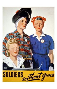 WW2: Rosie the Riveter had many female pals who did other needed tasks besides riveting to help the war effort. Help Us Salute Our Veterans by supporting their businesses at www.VeteransDirectory.com and Hire Veterans VIA www.HireAVeteran.com Repin and Link URLs