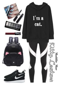 """""""Kitty couture😻"""" by maddiemae30 ❤ liked on Polyvore featuring NIKE, Chanel and NARS Cosmetics"""