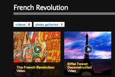 French Revolution.  This site includes an interactive timeline and interactive game which test knowledge of revolution-related words. Teachers should review the site before using in classrooms.