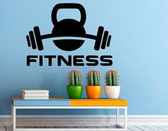 Fitness Wall Decal Gym Wall Stickers Sports Interior Bedroom Home Decor Dorm Room Wall Art Murals Wall Stickers Images, Wall Stickers Sports, Dorm Room Walls, Gym Decor, Hand Painted Walls, Name Wall Decals, Mural Wall Art, Design, Wall Decorations