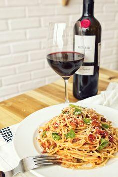 Pretty much anything Italian I will eat. :) pasta, nachos, even soda!!