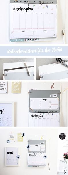 DIY Kalenderordner / Organize-Wall – home office organization diy