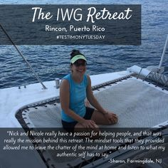 Check out this #TestimonyTuesday from Sharon!   If you are looking for a Wellness Retreat that will change your perspective and life then look no further. We make it our mission to give you the tools you need to reset your mindset not only while in a beautiful locale but to bring home to your family.   Click here to learn more: http://www.theiwgretreat.com/