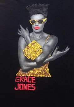 GRACE JONES  Art Shirt T-shirt Grace Jones Leopard Dress T shirt