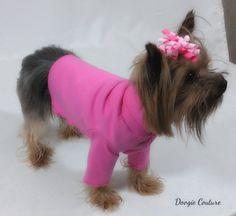 Bubblegum Pink Dog Turtleneck Shirt Clothes Size XXXS through Medium by Doogie Couture on Etsy, $9.99