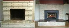 #TransformationTuesday Check out the transformation by our customer Berta Ruark. She couldn't be happier since using Brick Anew.   #fireplacepainting #paintingafireplace #paintingbrick #DIY