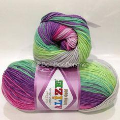 ALIZE COTTON GOLD BATIK 4147, Price: 105.000,-/gulung, Bahan: 55% Cotton - 45% Acrylic, Berat/Panjang: 100gr/330m, Knitting Needles: 3,5mm – 5mm, Crochet Hook: 2mm - 4mm