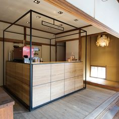 Omotesando Koffee in Omotesando Hills, Tokyo. Minimalism and simplicity at its best, facing onto a small garden. Kiosk Design, Cafe Design, Booth Design, Retail Design, Store Design, Web Design, Café Bistro, Cafe Interior, Interior Design