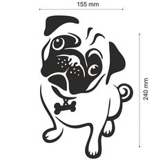 Razza del cane del Pug Mops JDM Auto auto paraurti Vinyl Decal