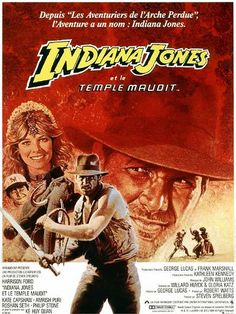 French movie poster for Indiana Jones and the Temple of Doom