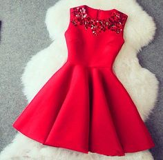 Red Homecoming Dress Short Homecoming Dresses Satin Homecoming Gowns,Sweet 16 Dress Red Beading Homecoming Dresses Casual Party Dress