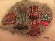 Bild Pastellkreide Linedance by DSD Handmade, Painting, Art, Pictures, Art Background, Hand Made, Painting Art, Kunst, Paintings