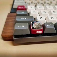 My Jelly - Your Jelly Key artisan keycaps Apple Desktop, Key Caps, Gamer Room, Small Stuff, Cool Stuff, Computer Keyboard, Fun Crafts, Jelly, Usb Flash Drive