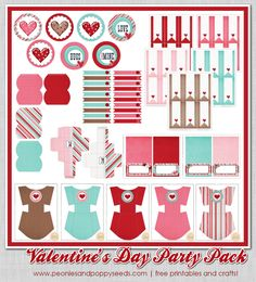 Its Written On The Wall Gotta See This Huge Valentines Day Party Pack Printables Sylvia Lakalaka PaperCraft Templates