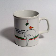 A personal favorite from my Etsy shop https://www.etsy.com/listing/481926672/vintage-christmas-elephant-mug