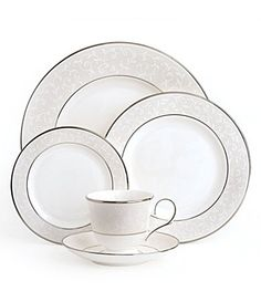 I love my fine china! Lenox Opal Innocence  I have the Pearl Innocence - MGJ